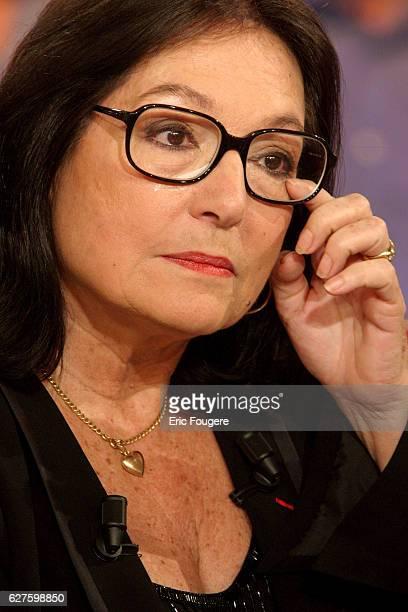 Singer Nana mouskouri is a guest of France 2 television show Vivement Dimanche