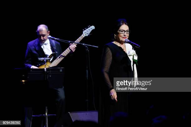 Singer Nana Mouskouri Performs during Forever Young Tour 2018 at Salle Pleyel on March 8 2018 in Paris France