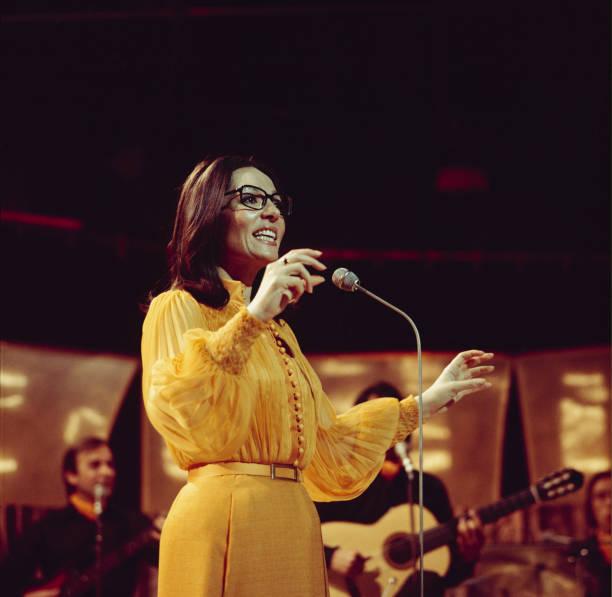 Nana Mouskouri Performs On Tv Show