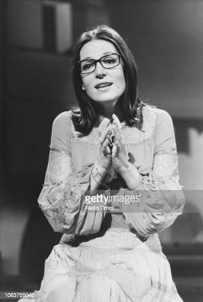 Singer Nana Mouskouri pictured performing, January 20th 1979.