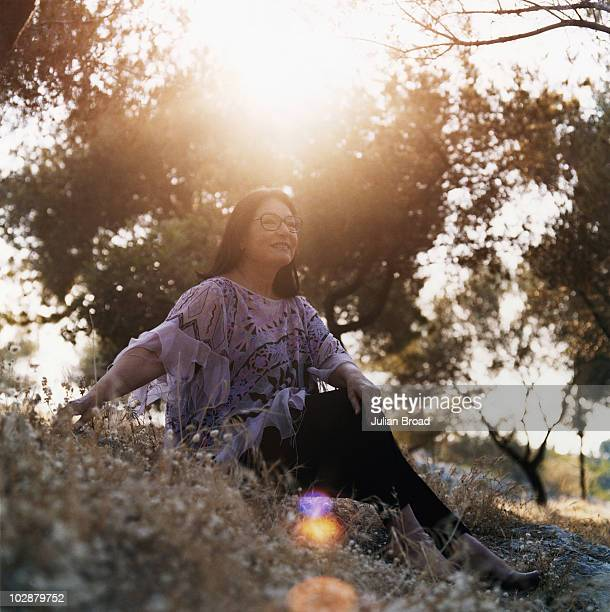 Singer Nana Mouskouri poses for a portrait shoot in Athens, Greece.