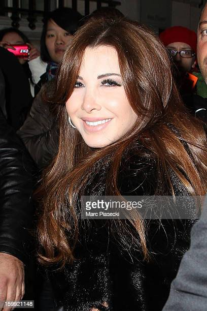 Singer Nancy Ajram arrives to attend the Elie Saab Spring/Summer 2013 HauteCouture show as part of Paris Fashion Week at Pavillon Cambon Capucines on...