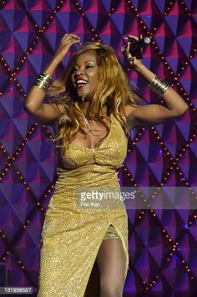 Singer Nancy Murillo performs during the 'Paris Latino' Marlene Mourreau's Show Premiere at the Cabaret La Nouvelle Eve on November 4 2011 Paris...