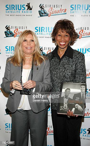Singer Nancy Sinatra and Altovise Davis attend the Sirius Satellite Radio launch of the Siriusly Sinatra Channel at the Sirius office in Manhattan on...