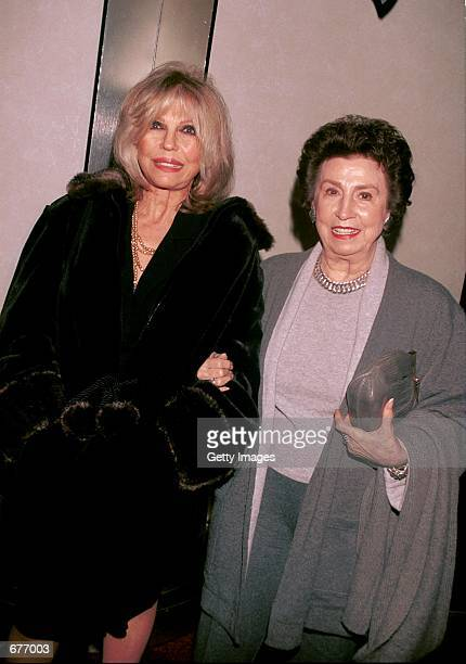 Singer Nancy Sinatra and her mother Nancy attend Merv Griffin's Coconut Club for a special performance by Polly Bergen prior to her opening on...