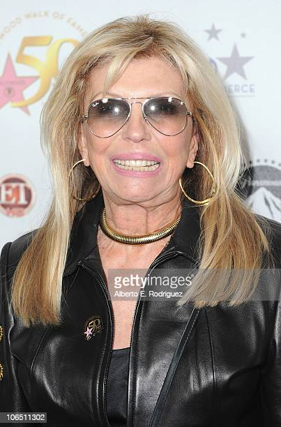 Singer Nancy Sinatra arrives to the Hollywood Walk of Fame's 50th Anniversary Celebration on November 3 2010 in Hollywood California