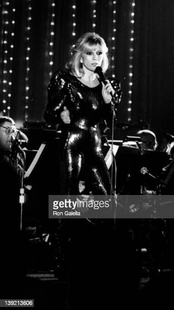 Singer Nancy Sinatra attends Frank and His Friends Valentine LoveIn II on February 12 1983 at the Canyon Hotel in Palm Springs California