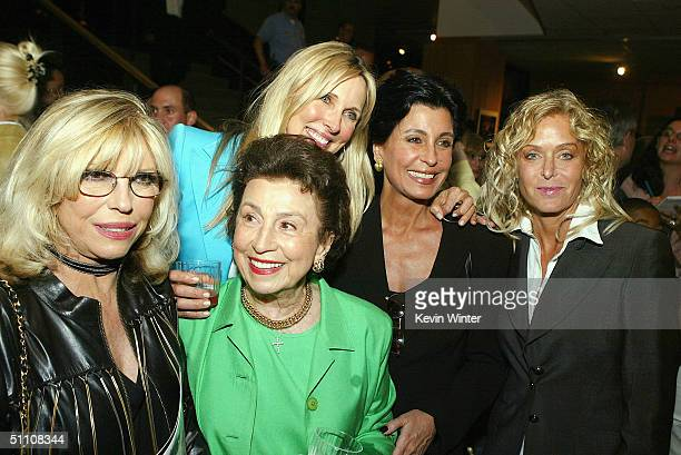 Singer Nancy Sinatra Nancy Sinatra Sr model Alana Stewart producer Tina Sinatra and actress Farrah Fawcett pose at the afterparty for the premiere of...