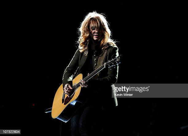 """Singer Nancy Wilson of Heart performs onstage during """"VH1 Divas Salute the Troops"""" presented by the USO at the MCAS Miramar on December 3, 2010 in..."""