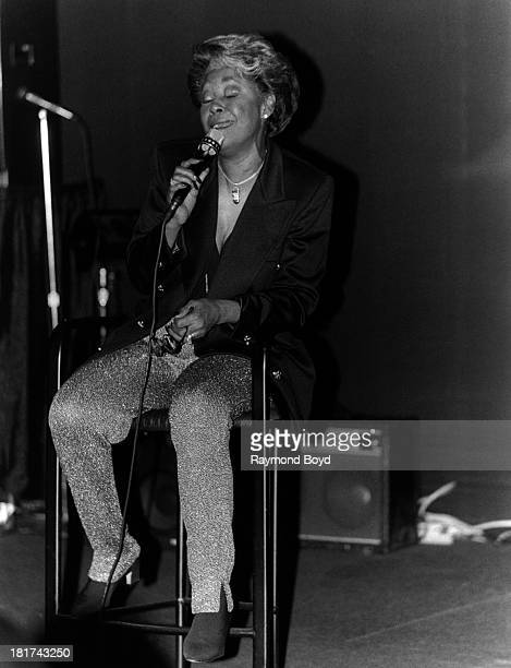 Singer Nancy Wilson performs at Club Intas in Chicago Illinois in MAY 1994