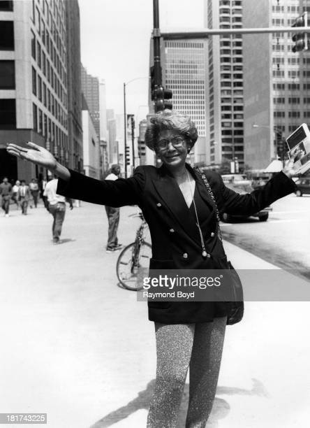 Singer Nancy Wilson poses for photos on North Michigan Avenue in Chicago Illinois in MAY 1994