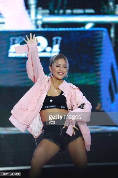 Singer Naomi Wang Ju performs onstage during Weibo Fan Festival on August 18 2018 in Beijing China