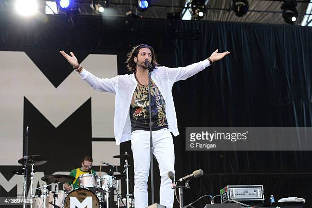 Singer Nasri of Magic performs during Rock in Rio USA at MGM Resorts Festival Grounds on May 16 2015 in Las Vegas Nevada