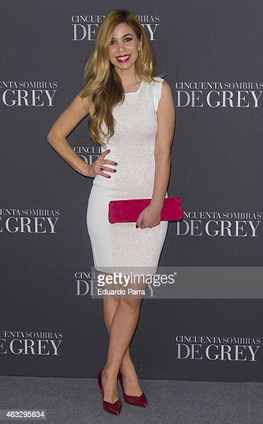 Singer Natalia Rodriguez attends '50 Shades of Grey' premiere at Callao City Lights cinema on February 12 2015 in Madrid Spain