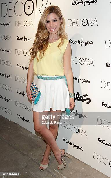 Singer Natalia Rodriguez attends 'Decoration party by El Corte Ingles' at El Corte Ingles store on April 29 2014 in Madrid Spain