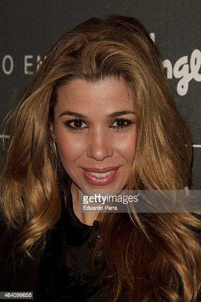 Singer Natalia Rodriguez attends Emidio Tucci new collection photocall at Calderon theatre on January 20 2014 in Madrid Spain