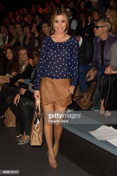 Singer Natalia Rodriguez attends Mercedes Benz Fashion Week Madrid W/F 2014 at Ifema on February 17 2014 in Madrid Spain