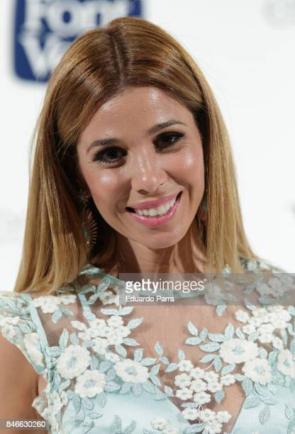 Singer Natalia Rodriguez attends the 'Yo Dona MBFW opening party' photocall at Barcelo hotel on September 13 2017 in Madrid Spain
