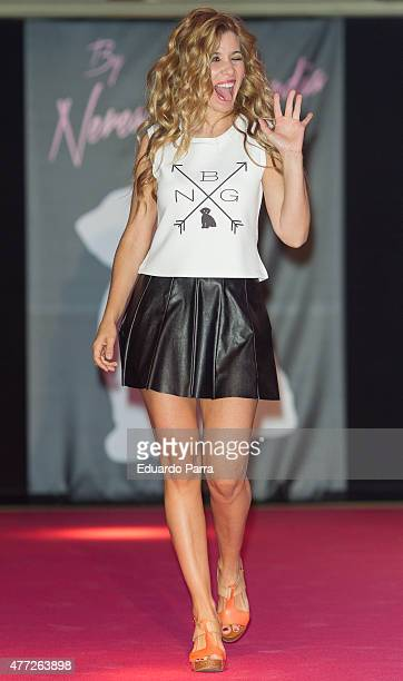 Singer Natalia Rodriguez walks the runway at the 'By Nerea' show on June 15 2015 in Madrid Spain
