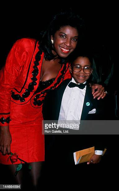 Singer Natalie Cole and son Robert Yancy attending 21st Annual NAACP Image Awards on December 10 1988 at Shrine Audtiorium in Los Angeles California