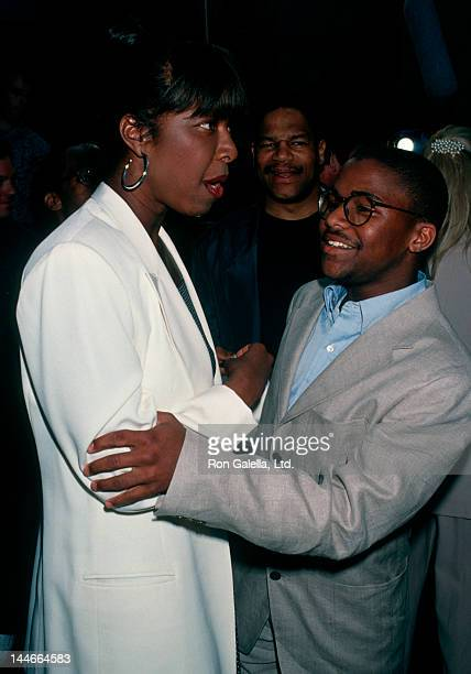Singer Natalie Cole and son Robert Yancy attending the screening of Beverly Hills Cop on May 22 1994 at Mann Chinese Theater in Hollywood California