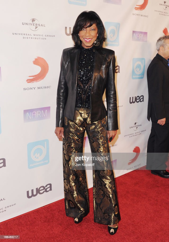 Singer Natalie Cole arrives at the NARM Music Biz 2013 Awards Dinner Party at the Hyatt Regency Century Plaza on May 9, 2013 in Century City, California.