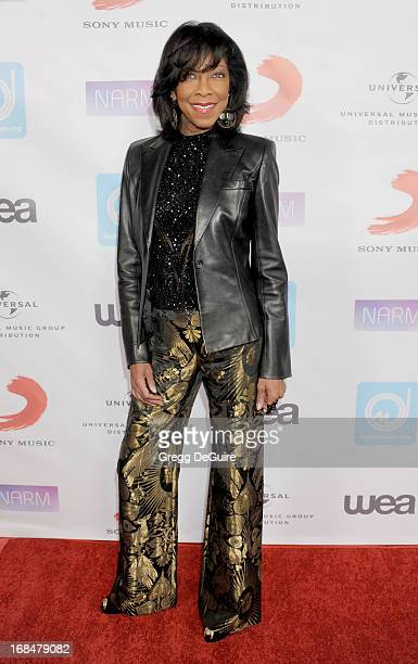 Singer Natalie Cole arrives at the NARM Music Biz Awards dinner party at the Hyatt Regency Century Plaza on May 9 2013 in Century City California