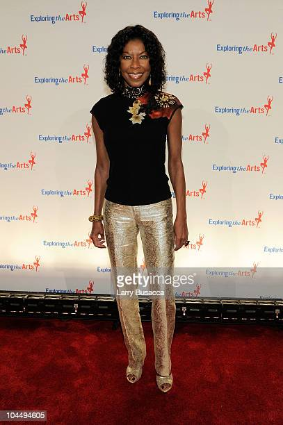 Singer Natalie Cole attends the Exploring the Arts Gala at Cipriani Wall Street on September 27 2010 in New York City