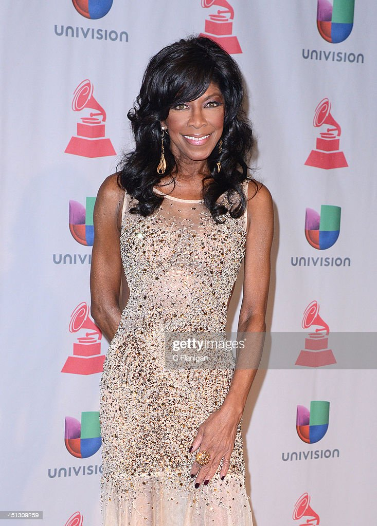 Singer Natalie Cole poses backstage at the 14th Annual Latin GRAMMY Awards at Mandalay Bay Events Center on November 21, 2013 in Las Vegas, Nevada.