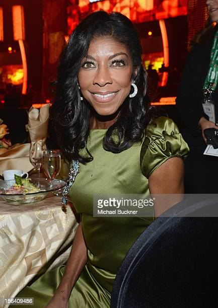 Singer Natalie Cole poses during the 2012 Person of the Year honoring Caetano Veloso at the MGM Grand Garden Arena on November 14 2012 in Las Vegas...