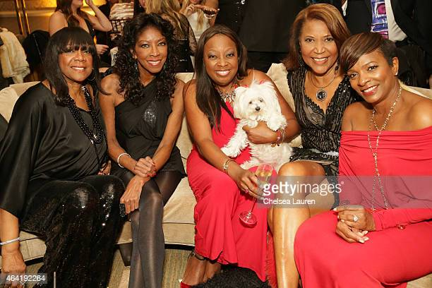 Singer Natalie Cole TV personality Star Jones a guest and actress Vanessa Bell Calloway attend MercedesBenz USA and African American Film Critics...