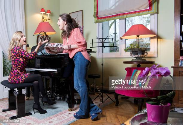 Singer Natalie Dessay with her daughter Neima Naouri are photographed for Paris Match on January 5 2018 in Paris France