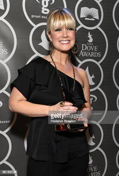 Singer Natalie Grant poses in the press room at the 40th Annual GMA Dove Awards held at the Grand Ole Opry House on April 23, 2009 in Nashville,...