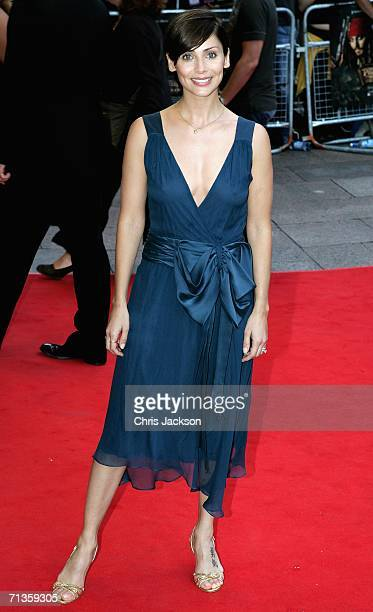 Singer Natalie Imbruglia and guest arrive at the Premiere of 'Pirates Of The Caribbean Dead Mans Chest' European Premiere on July 3 2006 in London...