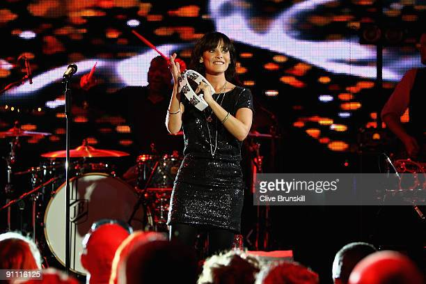 Singer Natalie Imbruglia performs onstage for the Arthurs Day Guinness 250th Anniversary Celebration held at the Academy on September 24 2009 in...