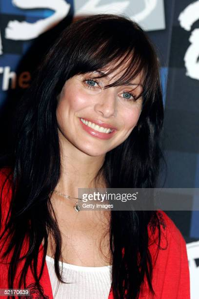 Singer Natalie Imbruglia poses in the press room during the 25th anniversary BRIT Awards 2005 at Earl's Court on February 9 2005 in London