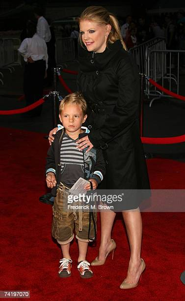 Singer Natalie Maines and her son Jackson Slade Pasdar attend the premiere of Walt Disney's Pirates Of The Caribbean At World's End held at...