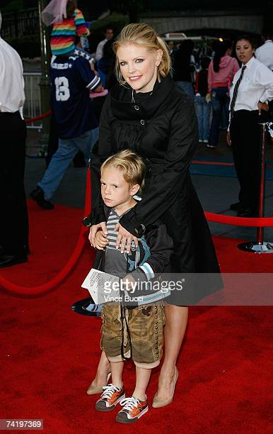 Singer Natalie Maines of the Dixie Chick and her son Jackson Slade Pasdar attend the premiere of Walt Disney's Pirates Of The Caribbean At World's...