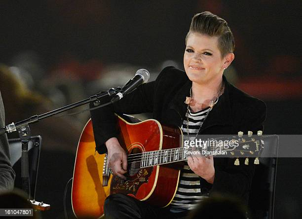 Singer Natalie Maines performs onstage at The 2013 MusiCares Person Of The Year Gala Honoring Bruce Springsteen at Los Angeles Convention Center on...