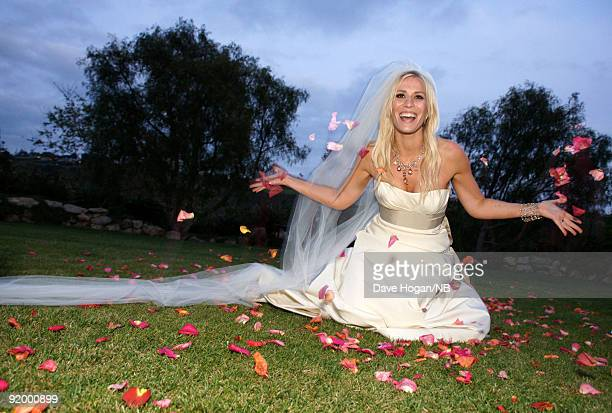 Singer Natasha Bedingfield after her wedding ceremony with Matt Robinson held at Church Estate Vinyards on March 21 2009 in Malibu California