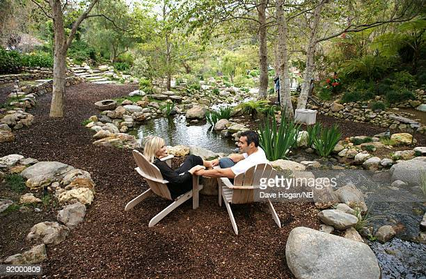 Singer Natasha Bedingfield and Matt Robinson lounge the day before their wedding ceremony of singer held at Church Estate Vinyards on March 20 2009...