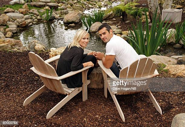 Singer Natasha Bedingfield and Matt Robinson pose during the wedding ceremony held at Church Estate Vinyards on March 2 2009 in Malibu California