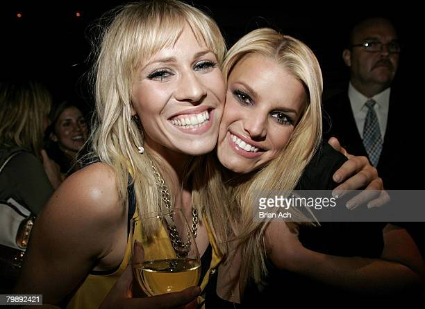 Singer Natasha Bedingfield and singer Jessica Simpson at the Entertainment Weekly And Bravo Celebrate Tim Gunns Guide To Style Party on September 5...