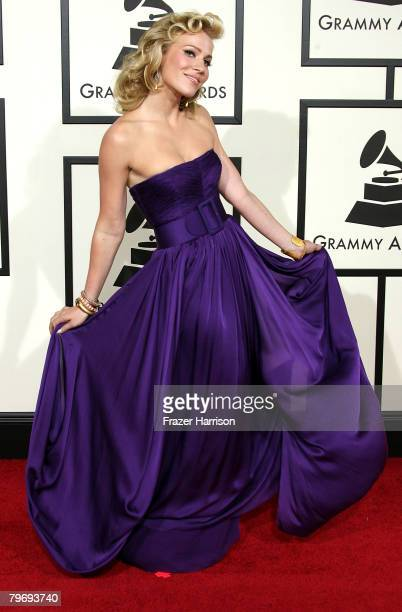 Singer Natasha Bedingfield arrives at the 50th annual Grammy awards held at the Staples Center on February 10 2008 in Los Angeles California