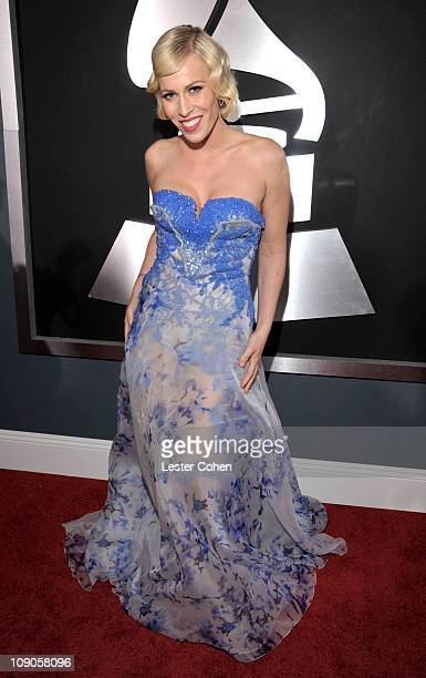 Singer Natasha Bedingfield arrives at The 53rd Annual GRAMMY Awards held at Staples Center on February 13, 2011 in Los Angeles, California.
