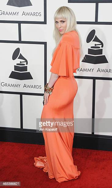 Singer Natasha Bedingfield arrives at the 56th GRAMMY Awards at Staples Center on January 26 2014 in Los Angeles California