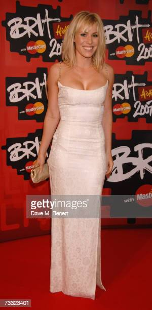 Singer Natasha Bedingfield arrives at the BRIT Awards 2007 in association with MasterCard at Earls Court 1 on February 14 2007 in London England