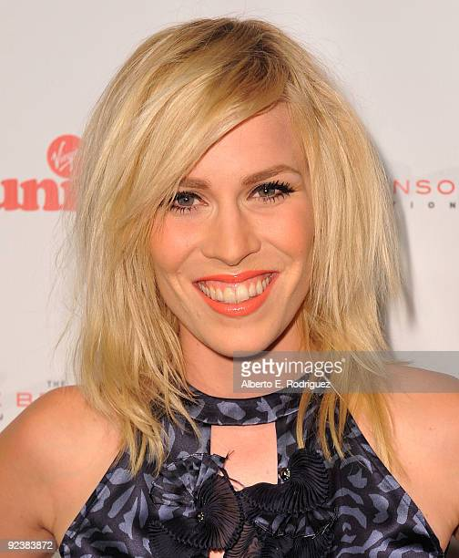 Singer Natasha Bedingfield arrives at the Rock the Kasbah event hosted by Sir Richard Branson and Eve Branson on October 26 2009 in Los Angeles...