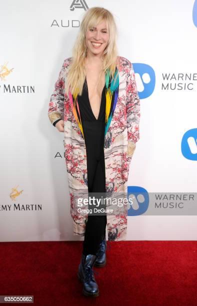 Singer Natasha Bedingfield arrives at Warner Music Group's Annual GRAMMY Celebration at Milk Studios on February 12 2017 in Hollywood California