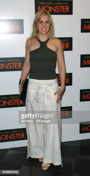 Singer Natasha Bedingfield arrives for the UK premiere of Monster at the Vue cinema in Leicester Square central London Monster tells the story of...
